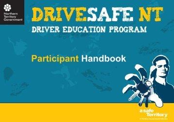 DriveSafe NT Participant Handbook - Department of Transport