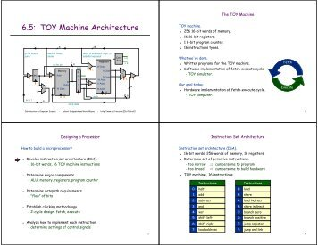6.5: TOY Machine Architecture - Introduction to Programming in Java