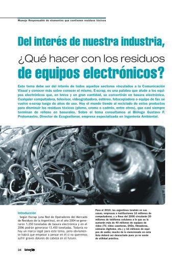 de equipos electrónicos? - Revista Letreros