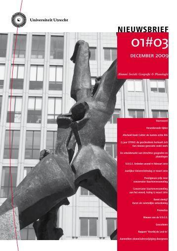 Nieuwsbrief nr 3, december 2009 - Universiteit Utrecht