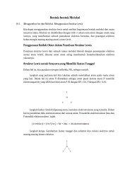 Bentuk-bentuk Molekul - Teknik Kimia UNDIP