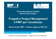 Progetti e Project Management il PMI® per l'eccellenza - PMI-NIC