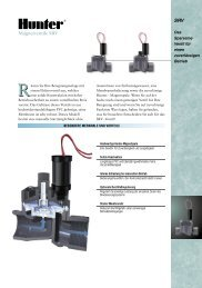 SRV Magnetventile SRV - Hunter Industries