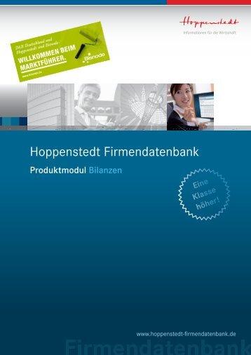Bilanzen - Hoppenstedt Firmendatenbank