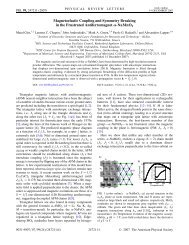 Magnetoelastic Coupling and Symmetry Breaking in the Frustrated ...