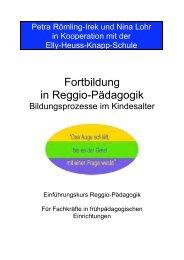 Fortbildung in Reggio-Pädagogik - Elly-Heuss-Knapp-Schule