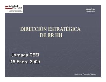 Dirección Estratégica de RRHH - EmprenemJunts