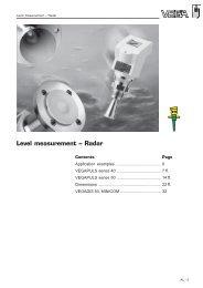 Level measurement – Radar