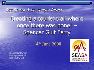 Existing Transportation Options - Tourism Futures