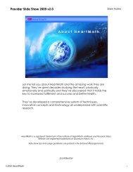 Provider Slide Show 2009 v2.0 - HeartMath South Africa