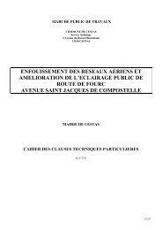 CCTP Enfouissement - Mairie de Cestas
