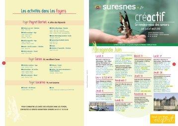 Créactif - juin, juillet, août 2013 (pdf - 487,00 ko) - Suresnes