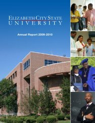 2009-10 Annual Report - Elizabeth City State University