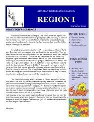 Region I Summer 2012 - Region 1 Arabian Horse Association