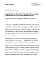 Expertenforum diskutiert energetische Grobfutter- Bewertung und ...
