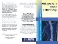 Orthopaedic Spine Fellowship Program