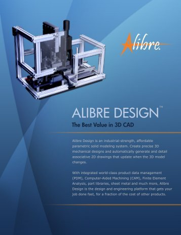 Alibre Design Brochure - Page Title