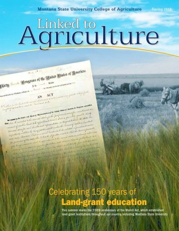 Spring 2012 - College of Agriculture - Montana State University