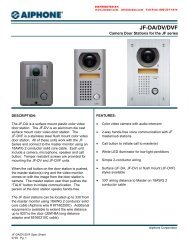 AIPHONE JF-DA JF-DV JF-DVF Camera Door Stations for JF Series