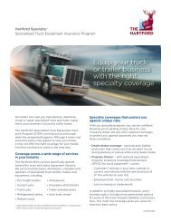 Download Specialized Truck Equipment flyer - The Hartford