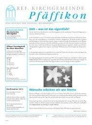 Ausgabe vom 28. März 2013 - Ref. Kirchgemeinde Pfäffikon