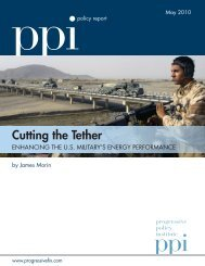 Cutting the Tether - Progressive Policy Institute