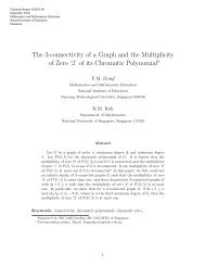 The 3-connectivity of a Graph and the Multiplicity of Zero '2' - NIE ...