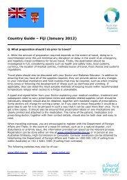Country Guide – Fiji (January 2012) - Australian Diabetes Council