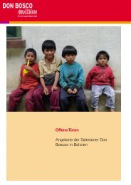 Offene Türen Angebote der Salesianer Don Boscos in Bolivien