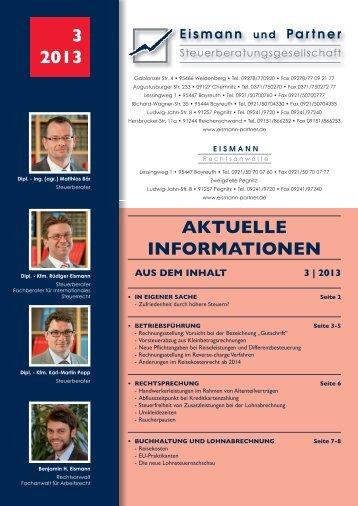 3-2013 PDF - EISMANN Rechtsanwälte