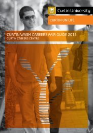 Curtin WASM Career Fair Guide Book 2012 - Unilife - Curtin University