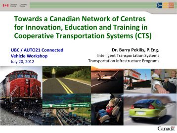 Towards a Canadian Network of Centres for Innovation ... - ICICS