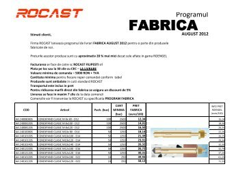 FABRICA - Rocast