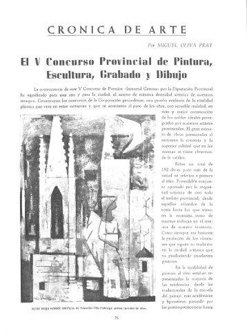 CRÒNICA DE ARTE El V Concurso Provincial ... - Revista de Girona