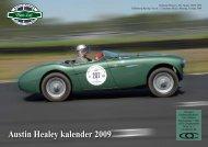 Austin Healey kalender 2009 - Austin Healey Club Sweden