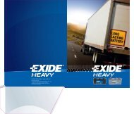 Leaflet EXIDE Truck batteries - Exide Technologies