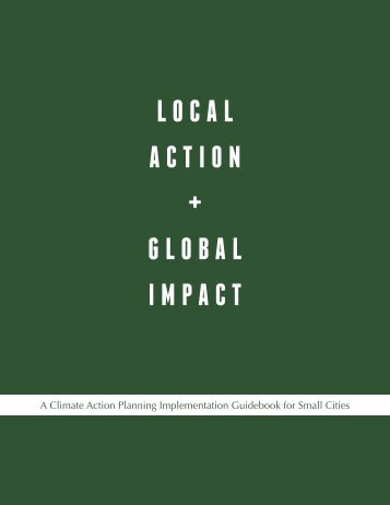 Climate Action Planning: Implementation Guidebook for Small Cities