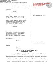 CA, Inc.'s Opposition to Division's Motion to Compel ... - Reed Smith