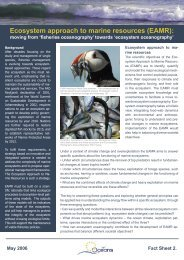Ecosystem approach to marine resources (EAMR): - EUR-Oceans