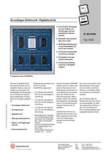 Grundlagen Elektronik / Digitaltechnik IC BOARD Typ 3530