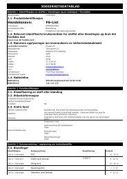 Sikkerhetsdatablad FS-List - Glava