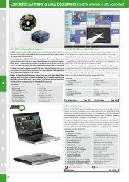 Controller, Dimmer & DMX Equipment /control, dimming & DMX ...