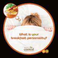 What is your breakfast personality? - Ceereal