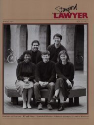 Spring 1987 – Issue 37 - Stanford Lawyer - Stanford University