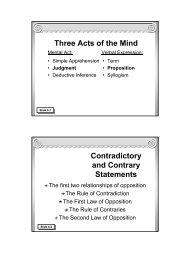 Traditional Logic I Chapter VI - Memoria Press