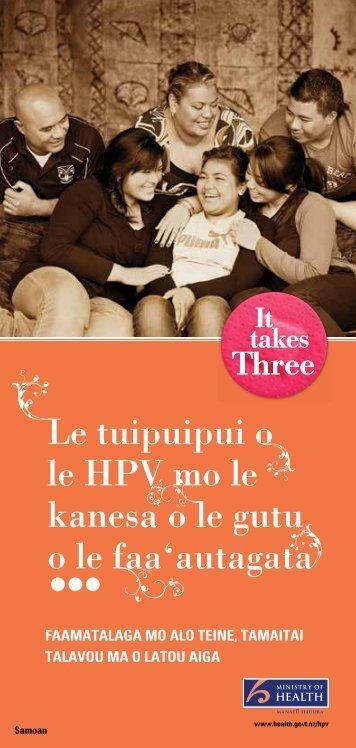 Le tuipuipui o le HPV mo le kanesa o le gutu o le faa ... - HealthEd