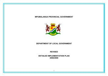 Detailed Implementation Plan 2008-09 - Co-operative Governance ...