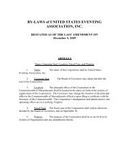 USEA By-Laws - United States Eventing Association
