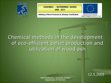 development of wood-based pellet production and technology