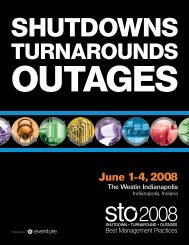 June 1-4, 2008 - Shutdowns - Turnarounds - Outages - STO ...